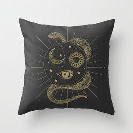 Shakti Snake Energy Throw Pillow