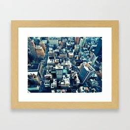 NEW YORK//OVERHEAD Framed Art Print