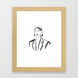 FAshion beauty Framed Art Print
