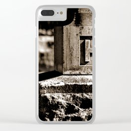 Rest Hart BW Clear iPhone Case