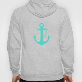 AFE Turquoise Anchor and Helm Wheel Hoody
