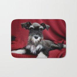 Oreo Schnauzer Puppy Bath Mat