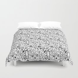 Swearing all day! Duvet Cover