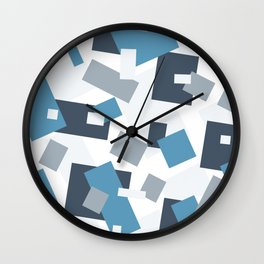 Pattern in Barek & Marta company collors Wall Clock