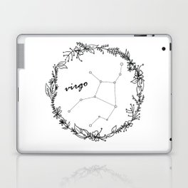 Floral Virgo Constellation Laptop & iPad Skin