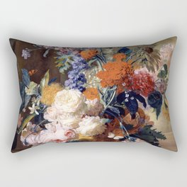 "Jan van Huysum ""Still life"" Rectangular Pillow"