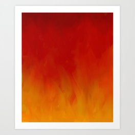 Flames of Gold Art Print