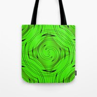 lime green Tote Bags featuring Lime Green by Sartoris ART