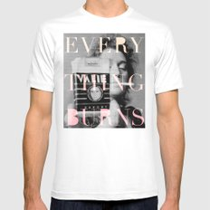 Every Thing Burns White Mens Fitted Tee MEDIUM