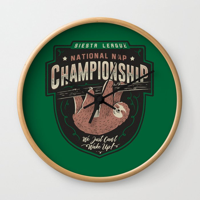 National Nap Championship Wall Clock