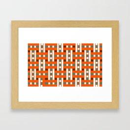 Cross Stitch Quilt Latter Design Chutes Weave Framed Art Print