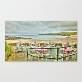 Cafe on the Beach Canvas Print