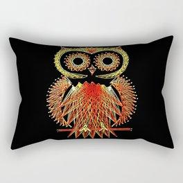 String Art Owl Rectangular Pillow