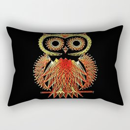 String Art Owl Rectangular Pillow