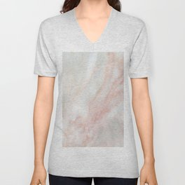 Softest blush pink marble Unisex V-Neck
