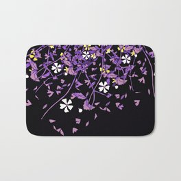 Nonbinary Pride Scattered Falling Flowers and Leaves Bath Mat
