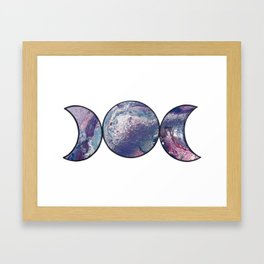 Triple Goddess MOON Framed Art Print