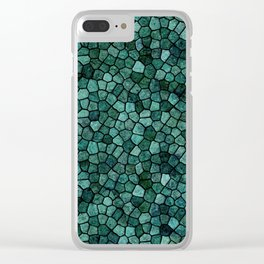 Oceanic Mosaic Crust Texture Abstract Pattern Clear iPhone Case