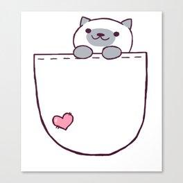 Marshmallow Pocket! Canvas Print