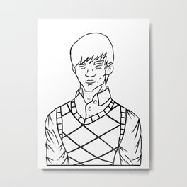 Gentleman in Sweater Vest and Shirt Metal Print