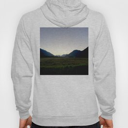 Tranquil mountains dusk Hoody
