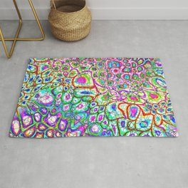 Colorful Synaptic Channels Rug