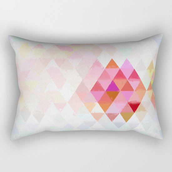 Abstract pink pastell triangle pattern- Watercolor illustration Rectangular Pillow