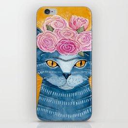 Frida Catlo in Blue iPhone Skin