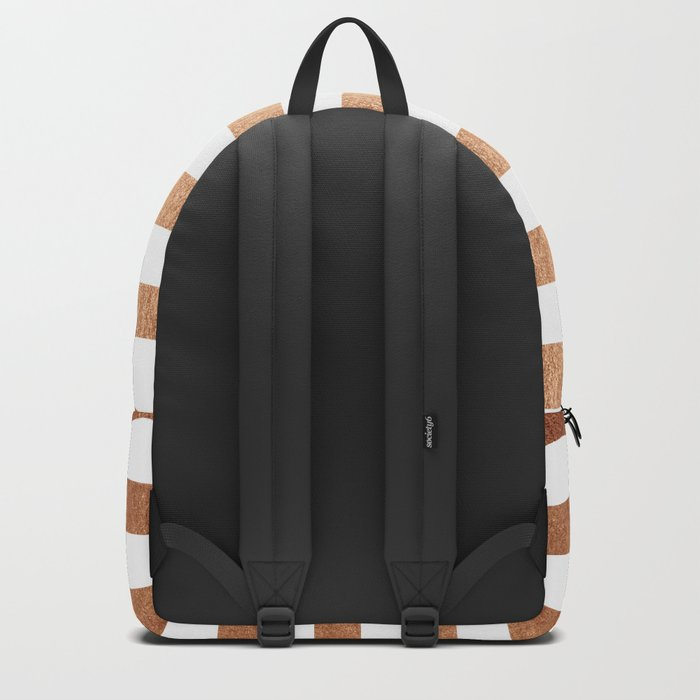 Simply Striped Deep Bronze Amber Backpack