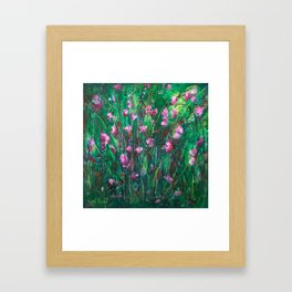 """WOODLAND SPRING"" Original Painting by Cyd Rust Framed Art Print"