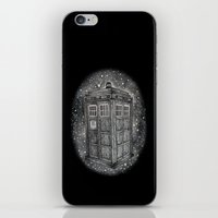tardis iPhone & iPod Skins featuring Tardis by Elizabeth A