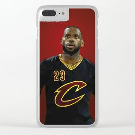 The King: LeBron LBJ James Clear iPhone Case