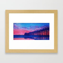 Fire Beyond the Pier Framed Art Print