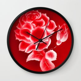 Flowermagic - Rose Wall Clock