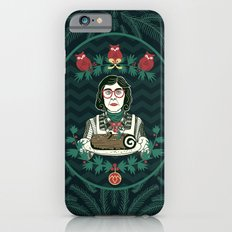 Yule Log Lady (in Green) iPhone 6s Slim Case