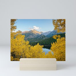 BEAR LAKE COLORADO AUTUMN ROCKY MOUNTAIN NATIONAL PARK FALL LANDSCAPE PHOTOGRAPHY Mini Art Print