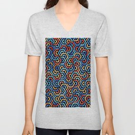 Seamless Colorful Geometric Pattern XXXI Unisex V-Neck