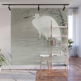 Ohara Koson - Little egret Wall Mural