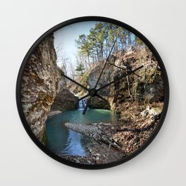 Alone in Secret Hollow with the Caves, Cascades, and Critters - Approaching the Falls Wall Clock