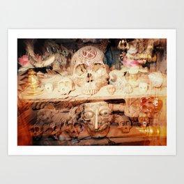 Tribal Skulls - A Solar Eclipse Ceremony Art Print