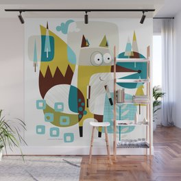 Fox In A Box Wall Mural