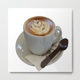 Americano Coffee Vector Metal Print