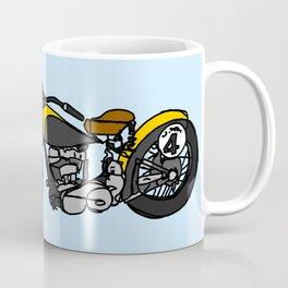 Yellow Antique Motorcycle Coffee Mug
