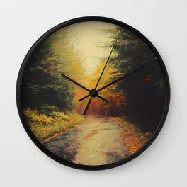 Grove in autumn Wall Clock