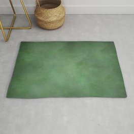 Abstract Soft Watercolor Gradient Ombre Blend 1 Deep Dark Green and Light Green Rug