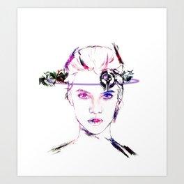 Celldweller Barbara Palvin Art Print
