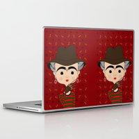 freddy krueger Laptop & iPad Skins featuring Frida Krueger by Camila Oliveira