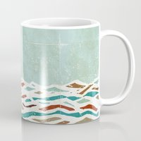kitchen Mugs featuring Sea Recollection by Efi Tolia