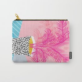 No Can Do - hipster abstract neon 1980s style memphis print palm springs socal los angeles desert Carry-All Pouch