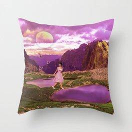 Magical landscape Throw Pillow